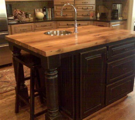 Kitchen Island Legs Wood antique oak countertop traditional kitchen