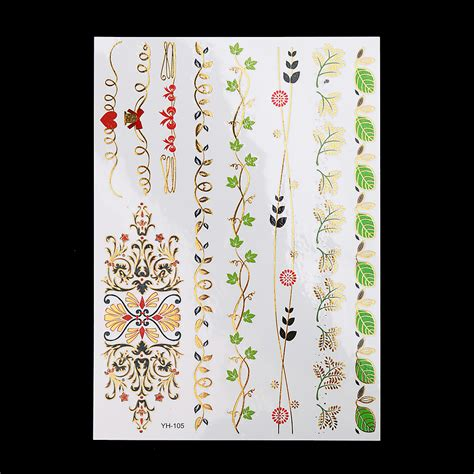 Tatoo 02a548r Gold Flash Model 10 buy wholesale flower wrist tattoos from china
