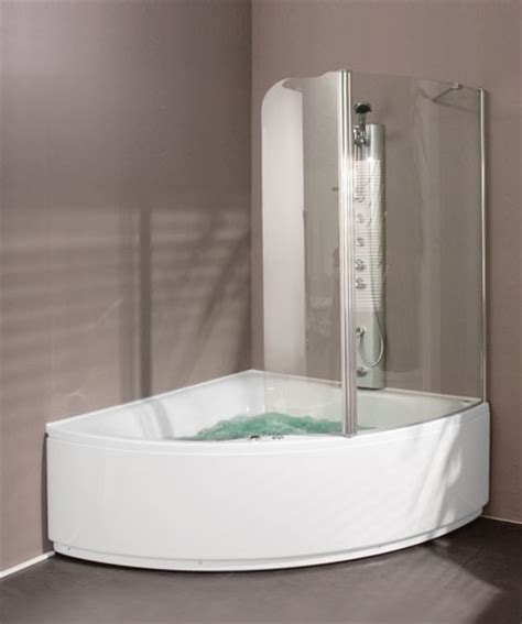 corner bath with shower screen aquaestil gloria 1400 corner shower bath with screen ebay