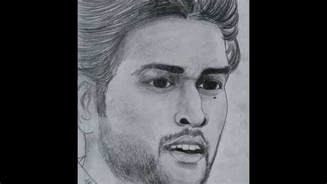 M S Dhoni Sketches by M S Dhoni Pencil Sketch Best Sketch 2017