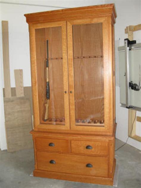 Handmade Gun Cabinet - custom gun display cabinets