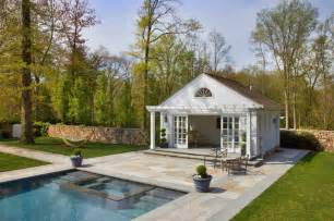 Building A Guest House In The Backyard Pool House Traditional Pool New York By Sean O