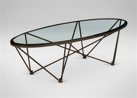 ethan allen oval coffee table kestral oval coffee table vintage steel clearance
