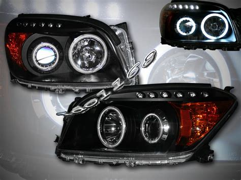 Toyota Rav4 Headlights 06 08 Toyota Rav4 Dual Ccfl Halo Projector Lights Black