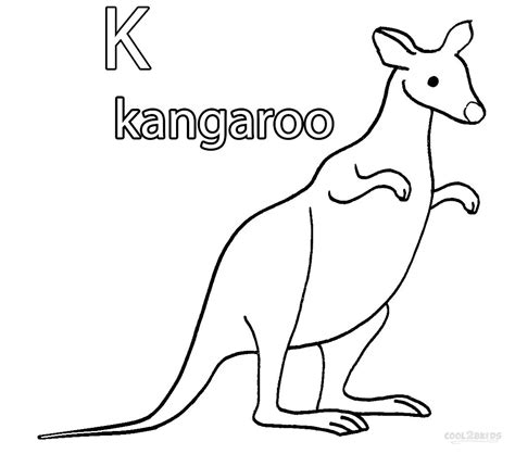 Printable Kangaroo Coloring Pages For Kids Cool2bkids Kangaroo Coloring Page