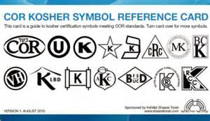 cor view of cor kosher symbol card