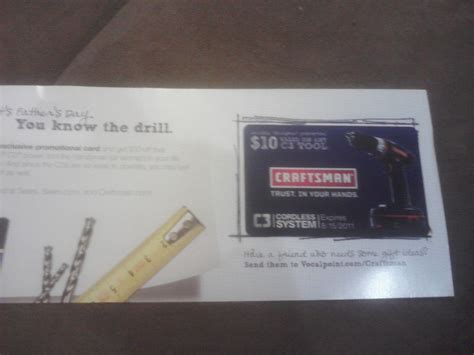Can I Use My Sears Gift Card At Kmart - got my 10 sears craftsman gift card who said nothing in life is free