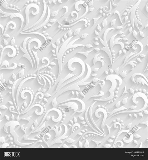 wedding paper vector floral seamless vector photo bigstock