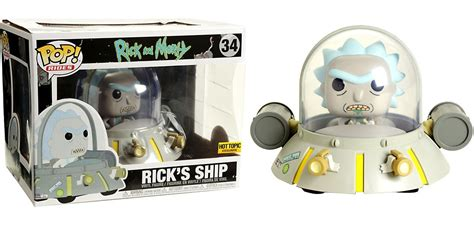 Funko Pop Original Rick And Morty Tinkles With Ghost In A Jar funko rick morty funko pop rides ricks ship exclusive vinyl figure 34 toywiz
