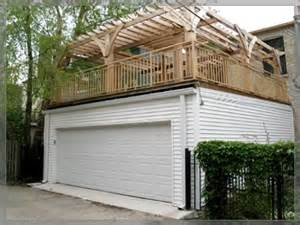 Flat Roof Garage Designs flat roof w deck garages danleys garage world general