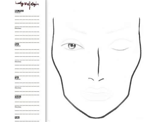 Free Printable Makeup Face Charts Makeup Vidalondon Makeup Chart Template