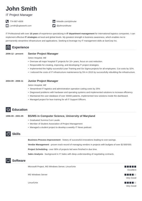 professional resume cv template 20 resume templates create your resume in 5