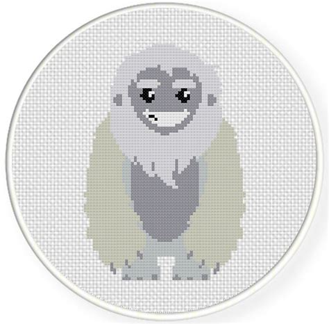 yeti pattern options yeti cross stitch pattern daily cross stitch