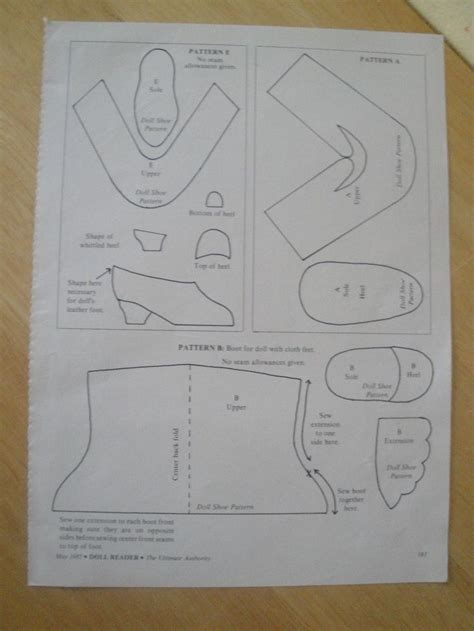 american shoe pattern free patterns for american doll shoes 28 images 73