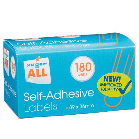 Self Adhesive Labels b m self adhesive labels 180pk 315132