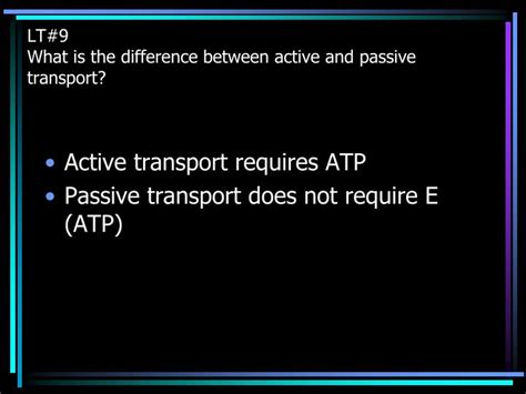 The Difference Between A Passive Ppt Cell Theory Powerpoint Presentation Id 6395712