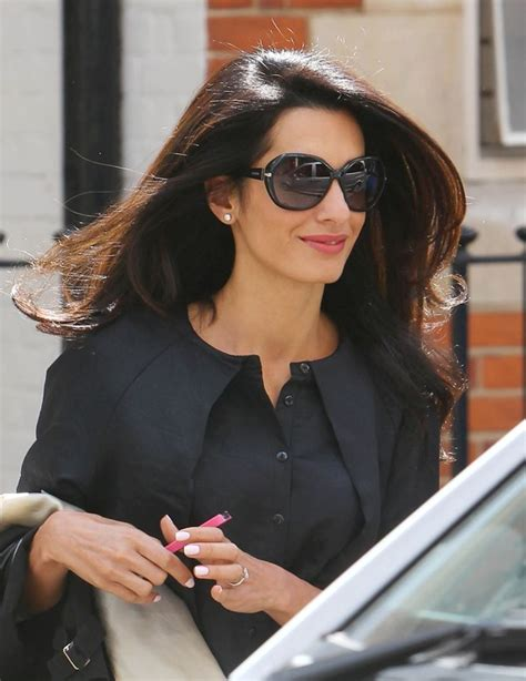 is amal clooney hair one length amal alamuddin gets papped after hair appointment lainey