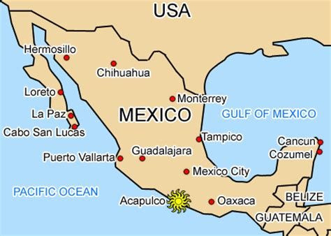 map acapulco mexico maps of acapulco and cancun acapulco and cancun