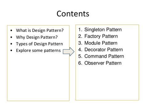 js design pattern factory javascript common design patterns