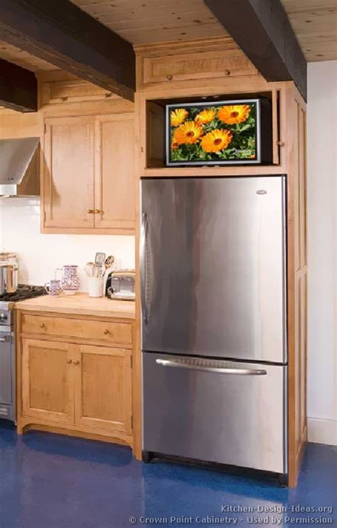 kitchen cabinet tv pictures of refrigerators in kitchens
