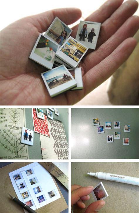 101 easy handmade gift tutorials everything etsy tiny polaroid magnets ambrosia creative auto design tech