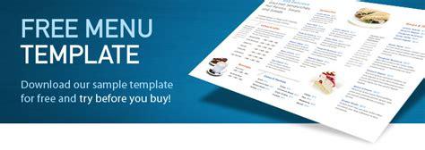 menu card templates free download wedding menu card template