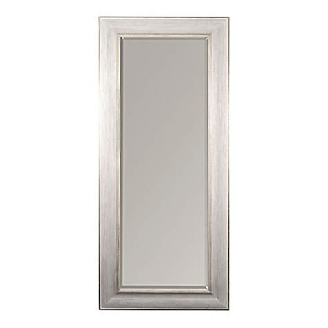 white gold 30x70 leaner mirror bed bath beyond