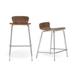 Crate And Barrel Bar Stool Felix Walnut Bar Stools Crate And Barrel