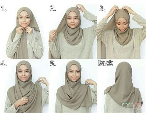 tutorial hijab pashmina monochrome simple tutorial hijab pashmina simple terkini dengan mudah
