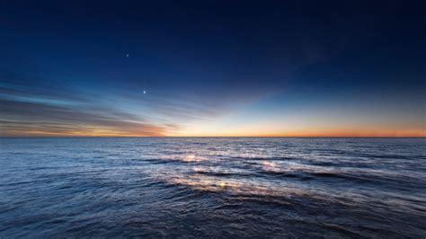 imagen gratis de  amanecer en el oceano en hd