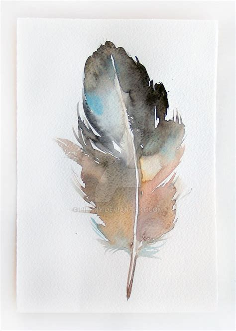 painting greys feather grey beige watercolor painting original by pilemy on deviantart