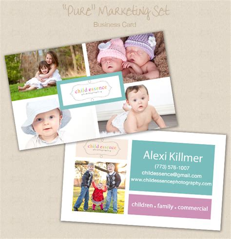 Free Photography Business Card Templates For Photoshop by The Album Cafe Photoshop Templates Alexi Killmer