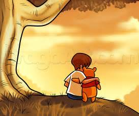 how to draw christopher robin and winnie the pooh step by step disney characters cartoons