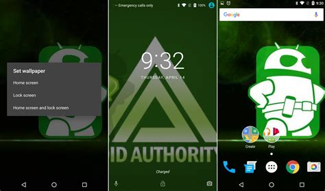 android lock screen wallpaper android n dev preview lets you set different wallpapers for lockscreen and homescreen
