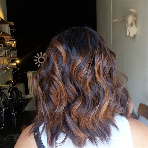 how to balayage med layered dark brown stunning cinnamon balayage for layered espresso brown hair