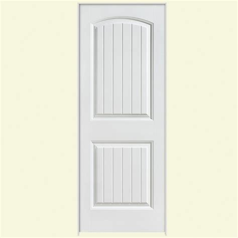 Pre Hung Interior Door Masonite 30 In X 80 In Solidoor Cheyenne 2 Panel Solid Smooth Primed Composite Single