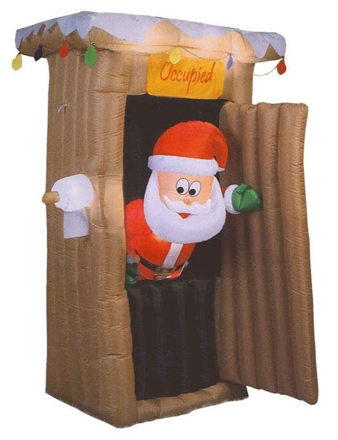 blow up santa in a boat unique santa outhouse inflatable best design that you will