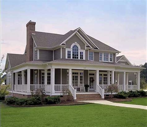 farmhouse plans wrap around porch dream home love the wrap around porch dream home