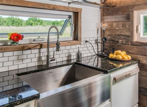 tiny house kitchen sink comfort and luxury in a tiny house format