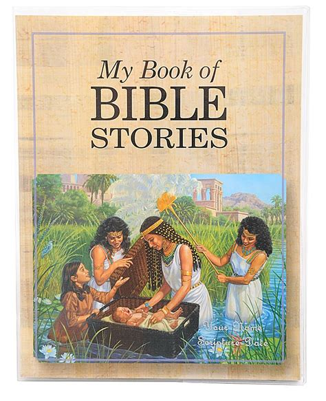 my book of bible stories clear vinyl book cover