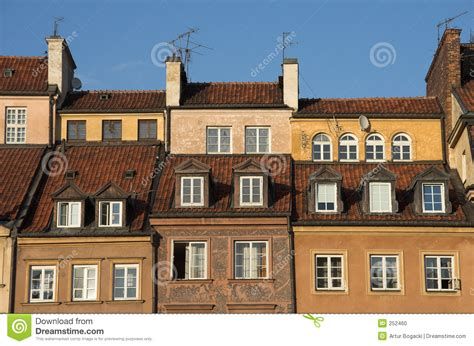 town houses old town houses stock photo image of dowontown brown 252460