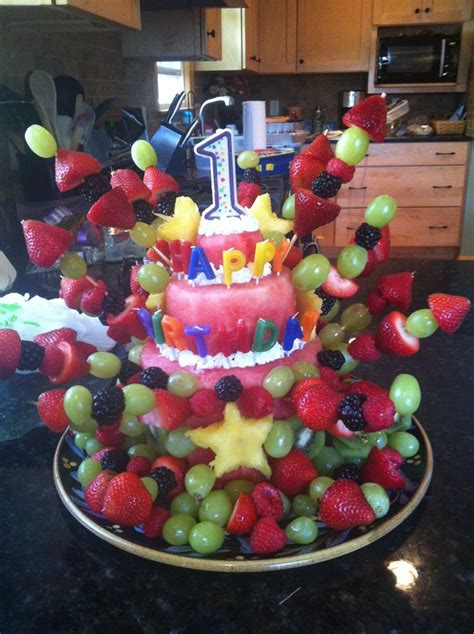 birthday cake alternatives ideas  pinterest melon cake fruit birthday cake