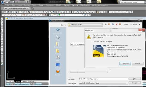 dwg format how to open quot file is open in autocad dwg launcher quot when trying to