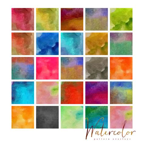 Watercolor Pattern Photoshop Free | 25 watercolor patterns for photoshop patterns on