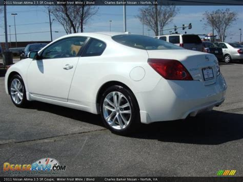 nissan altima coupe 2011 2011 nissan altima 3 5 sr coupe winter white blond