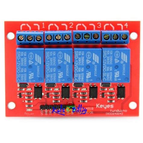 Cuci Gudang Relay Module 4 Channel 5 Volt Dc 4 kanals rel 233 modul 12v 4 channel relay shield module 12v