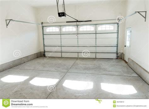 Garage Door Opener For Two Car Garage Two Car Garage Interior Stock Photo Image 45318872