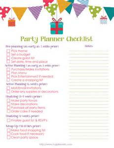 Print this free party planner printable to help you plan your next