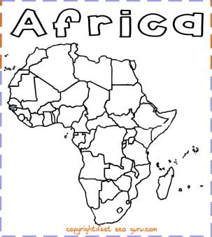 nigeria map coloring page printable africa map coloring page printable coloring