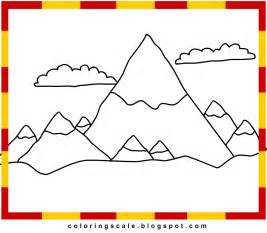 mountains coloring page free coloring pages of rocky mountains